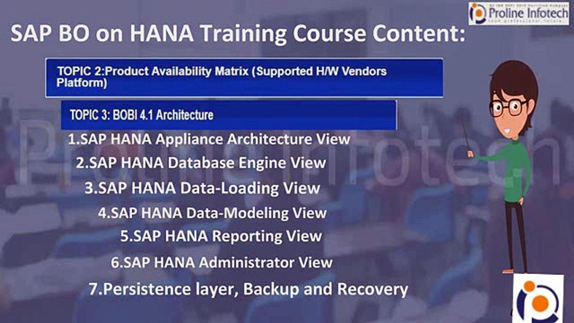 SAP HANA BO Training