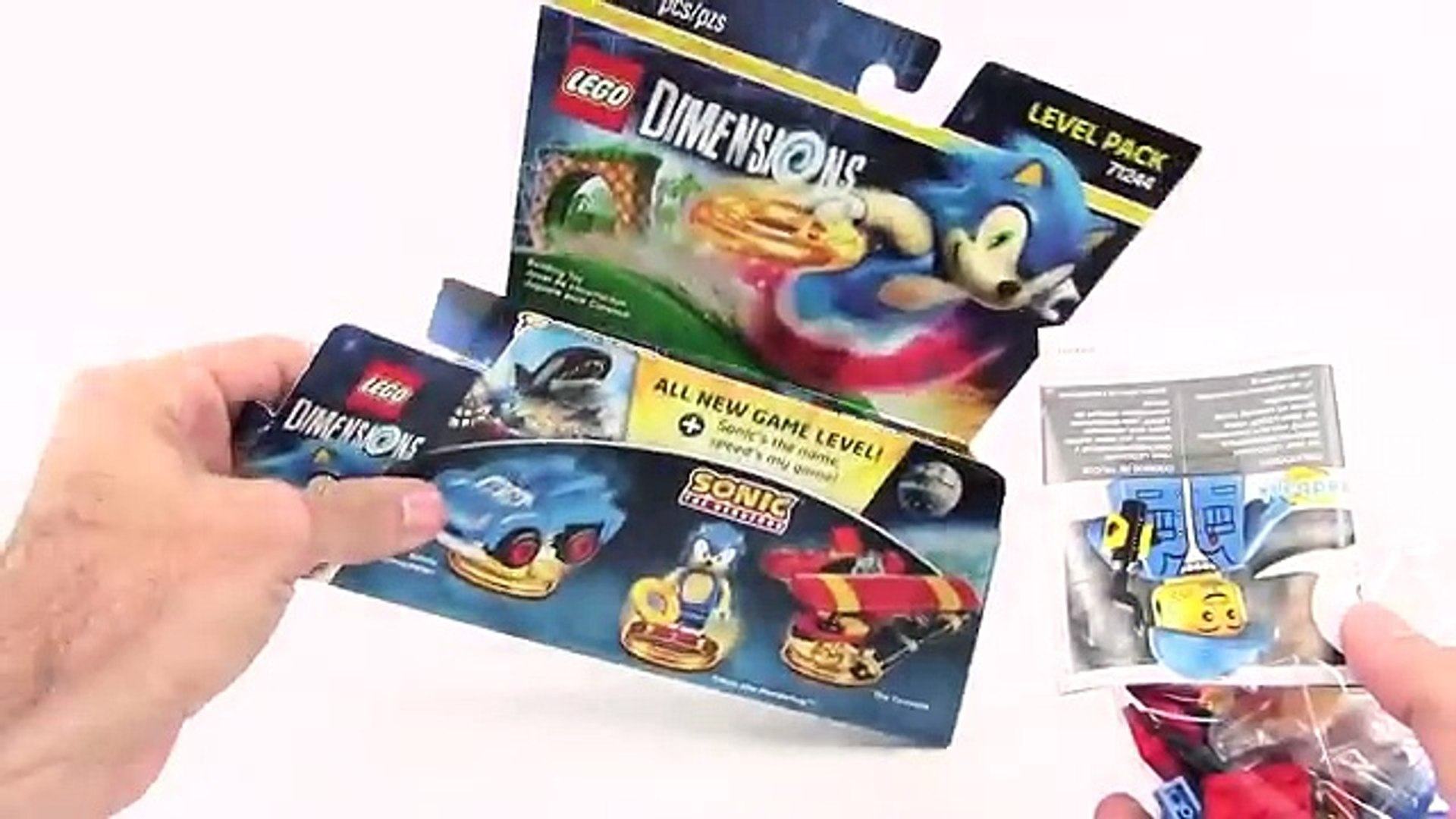 Lego Dimensions Sonic The Hedgehog Level Pack 71244 Unboxing Speed Build Gameplay H Video Dailymotion