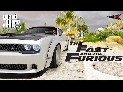 ► GTA 5 REDUX - Dodge Challenger Hellcat Showcase (Fast & Furious 8 Car)