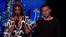 Mel B Throws Water On Simon Cowell, Storms Off Stage During Live 'America's Got Talent'