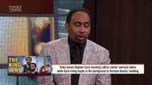 Kyrie Irving Laughing At Steph Curry Making Fun Of LeBron James Is A Big Deal _ First Take _ ESPN