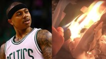 Celtics Fans BURN Isaiah Thomas Jerseys After Kyrie Irving Trade