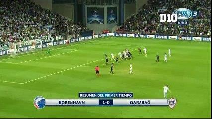 Federico Santander anota en Champions