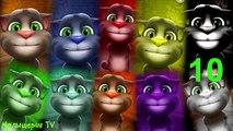 Dix enfants pour et Parler chat qui enseignent des nombres jusquà dix couleurs de couleurs danimation vidéo denseignement