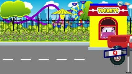 La Grúa de demolición - Grande Autos En la ciudad | Dibujos animados para niñas