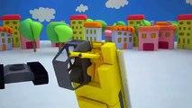 Una y una en un tiene una un en y construir dibujos animados construcción grúa para Niños aprendizaje vehículos 3d Niños |