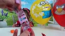 Video Niños para y masha oso de las bolas con una sorpresa reventar las bolas mignon Ingres BERDS Minni Maus