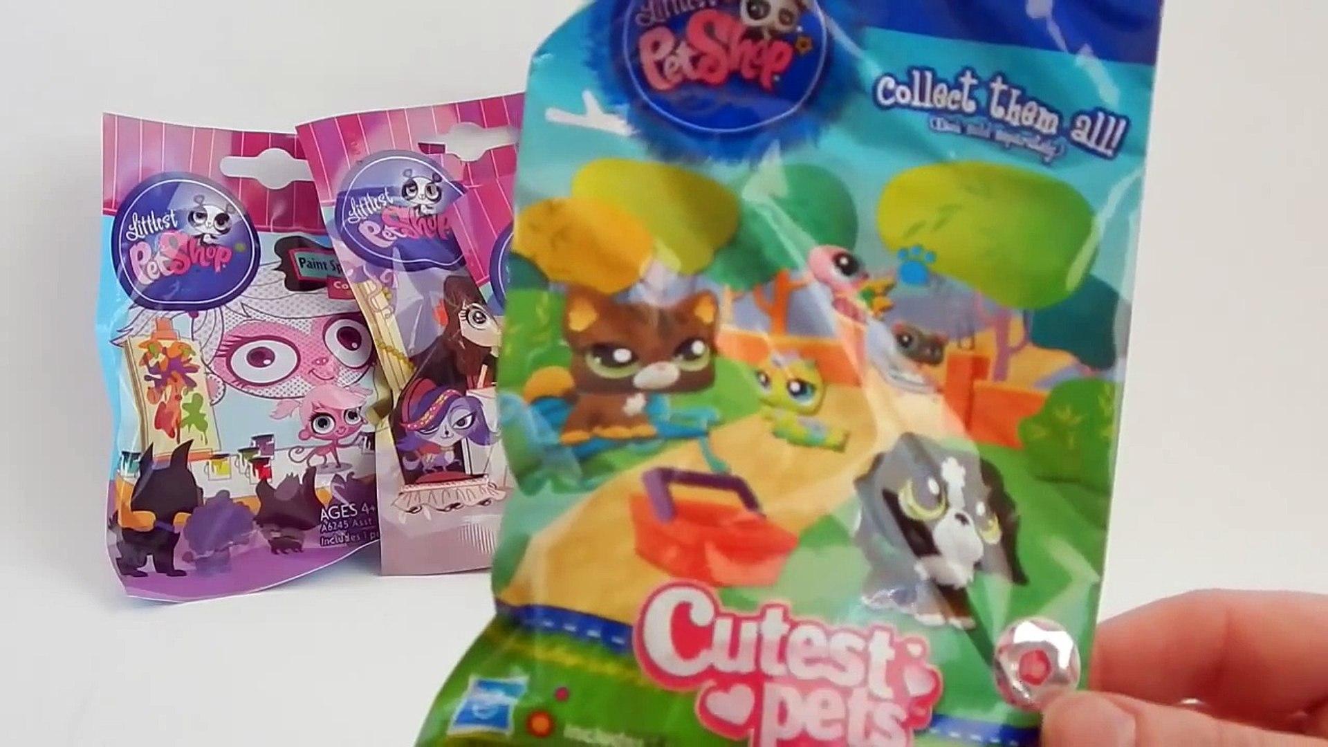 Littlest Pet Shop Blind Bag Mash Up Cutest Pets Party Stylin Pets Paint Splashing Pets обр