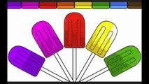 Livre couleur coloration les couleurs enfants Apprendre Nouveau arc en ciel Pages de magasin page popsicle fu