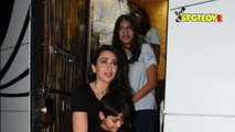 SPOTTED Kareena Kapoor and Karisma Kapoor with Family Post AD Shoot