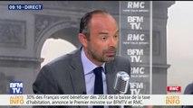 """Edouard Philippe : """"La baisse des APL était contenue dans le budget précédent, je l'exécute, je ne l'ai pas votée """""""