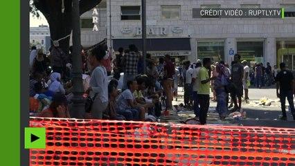 «Nous ne sommes pas des terroristes» : à Rome des migrants expulsés exigent un logement