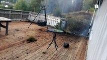 Un éclair explose la terrasse à 5 mètres de cet homme en Norvège