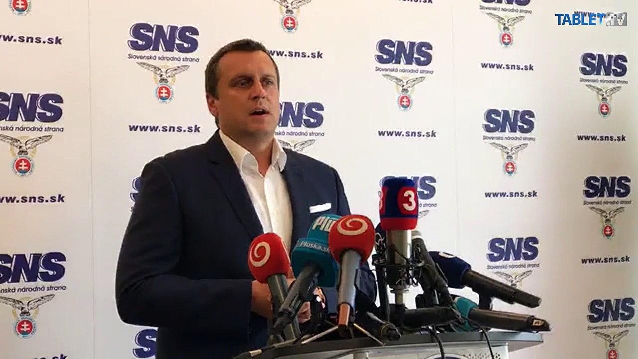 ZÁZNAM: Vyhlásenie predsedu SNS Andreja Danka
