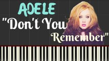 Adele - Don't You Remember Piano (Tutorial + Cover) with Lyrics | Synthesia Piano Lesson