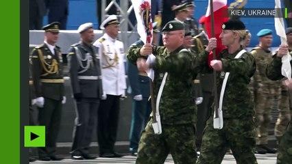 Des soldats de l'OTAN défilent à Kiev pour célébrer le Jour de l'indépendance de l'Ukraine