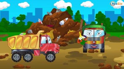 El Pequeño Camión Recoge FLORES y Aprende colores! | Dibujos Animados para niños, Dibujo Educacional