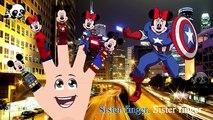 La famille doigt ponton homme de fer lyrique souris garderie rimes chansons homme araignée super-héros mickey