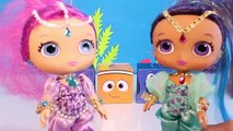 Shimmer and Shine vs My Little Pony KIDS GAMES | Surprise Toys Blind Bags MLP & Genie Whee
