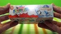 Des œufs pingouins jouets jouets Pingouins de Madagascar Kinder Surprise Kinder Surprise déballer