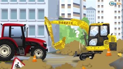 La Pelleteuse dessin animé - Pelle Mecanique - Dessin animé de Construction!