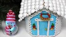 Bricolage enfants artisanat idées pour Noël Plastique bouteilles hiver maison recyclé bouteilles artisanat