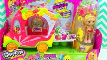 Shopkins Smoothie Truck Combo Shoppies Pineapple Lily Food Fair Unboxing   PSToyReviews