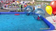 New Giant WATER BALLS - POOL BALLS - Outdoor Waterpark PLAYTIME Fun ivities for Kids &
