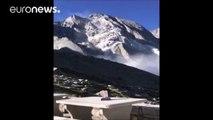 Incroyable éboulement dans les Alpes Suisses qui a provoqué une coulée de boue dévastatrice