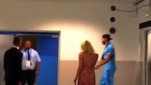 Pamela Anderson avec Adil Rami après OM-Domzale