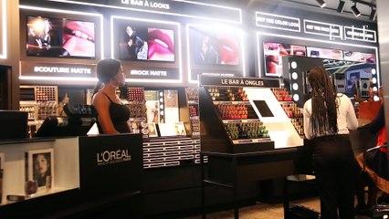 Le look #SmokyMatte comme Maria Borges à la boutique l'Oréal d'Abidjan
