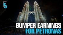 EVENING 5: Petronas sees bumper quarter