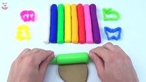 Et papillon argile couleurs Apprendre la modélisation moule broche jouer arc en ciel rouleau avec Doh pacman