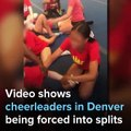 Horrible video shows cheerleader FORCED into doing painful splits by coach and other cheerleaders