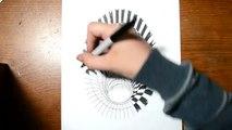 Un et un à un un à anamorphique dessin trou trou illusion