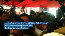 Inde : au moins 22 morts dans des heurts après la condamnation pour viol d'un gourou