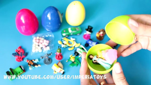 SURPRISE EGGS FROZEN DISNEY PRINCESS HELLO KITTY SPONGEBOB MASHA I MEDVED KINDER EGGS HD