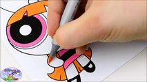 My Little Pony Powerpuff Girls Coloring Book MLP Blossom Bubbles Surprise Egg and Toy Coll