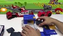 Un et un à un un à et bataille moteur feu hélicoptère enfants porter secours équipe jouets un camion Ambulance de police