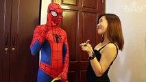 Hombre araña bromista bromas negro gato Nuevo superhéroe en vida