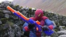 NERF GUN WAR: SNIPER SPIDERMAN vs 3 American SOLDIERS In Real Life Nerf Battle E1