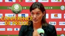 Conférence de presse Quevilly-Rouen Métropole - Clermont Foot (0-2) : Emmanuel DA COSTA (QRM) - Corinne DIACRE (CF63) - 2017/2018