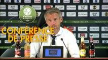 Conférence de presse FC Lorient - Stade de Reims (2-1) : Mickaël LANDREAU (FCL) - David GUION (REIMS) - 2017/2018