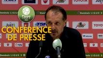 Conférence de presse Valenciennes FC - Chamois Niortais (4-1) : Faruk HADZIBEGIC (VAFC) - Denis RENAUD (CNFC) - 2017/2018