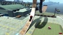 Aéroport par par des voitures saut partie tester un camion mack disney pixar eramp v2 crash onegamesplus 2