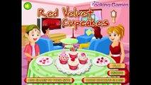 Nouveau cuisine des jeux rouge Velours petit gâteau film Jeu filles cuisine des jeux