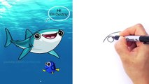 How to Draw Finding Dory Charers | Destiny the Whale Shark | Step by Step Drawing Tutor
