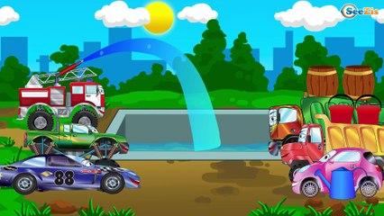 Videos para niños - El Camión de bomberos y Carritos para niños - La estación de reparaciones