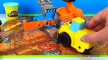 Bâtiment grue plates-formes formes le le le le la camions Playdoh robot construction bulldozer diggin sam scoo