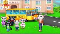 En para y Vamos a la escuela de los niños de dibujos animados dibujos animados educativos niños niñas